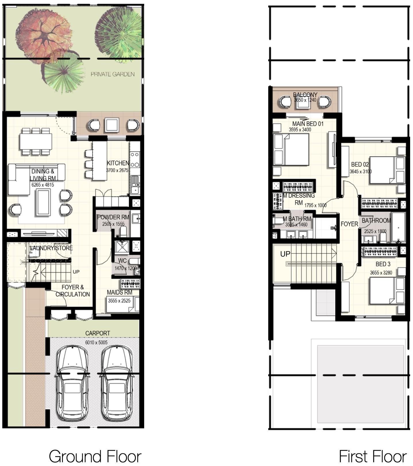 Urbana Townhouses III in Emaar South – Townhouses for Sale in Dubai