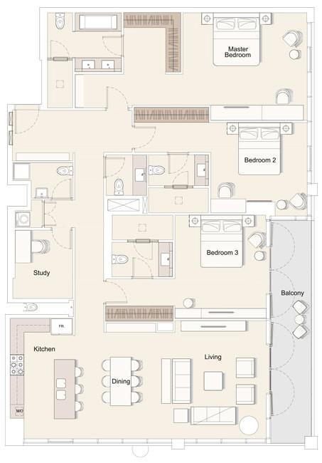 Ellington DT1 Apartments in Downtown Dubai