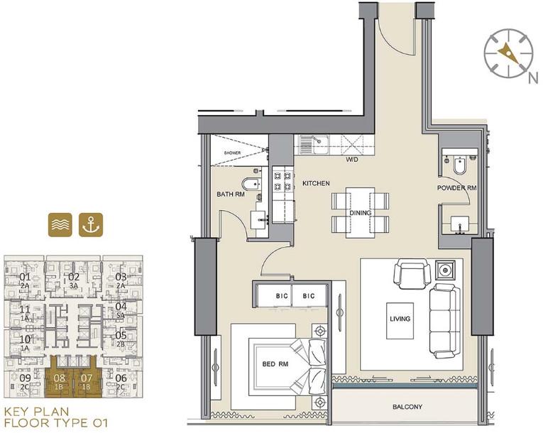 Marina Gate Dubai Apartments Floor Plans