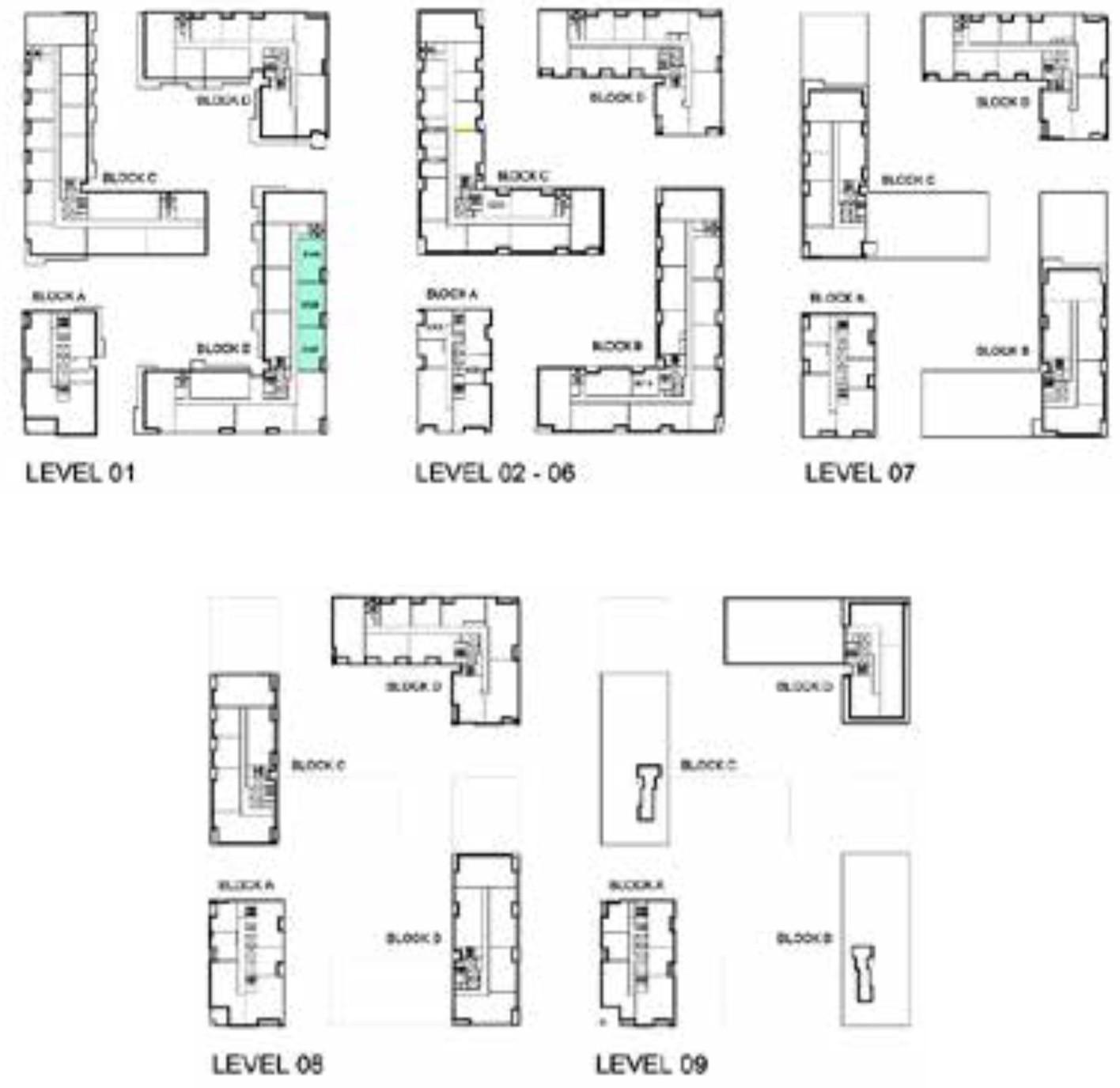 Emaar Park Point Floor Plans 2-Bedroom Apartment