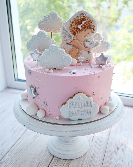 встречал торт на крестины с ангелами фото невероятная